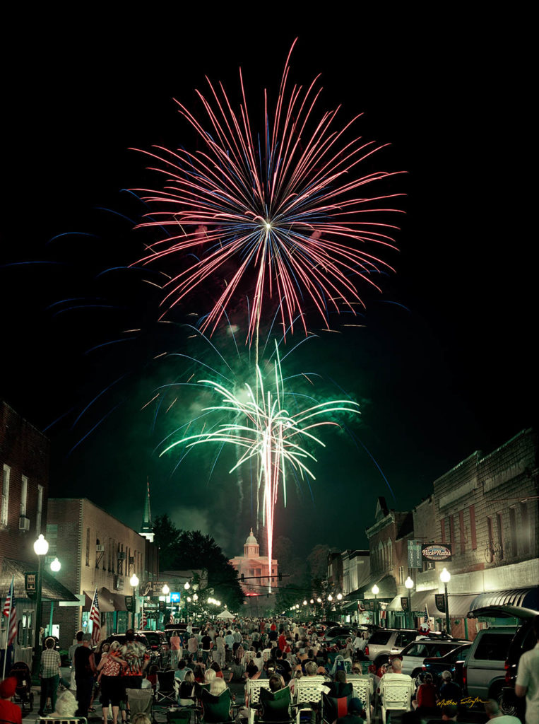 4th of July fireworks in Downtown Sylva, NC in 2004.